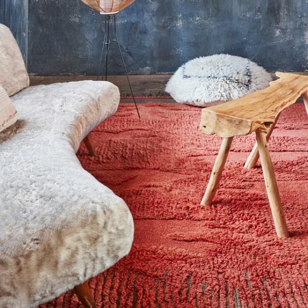 Narangu - prostokątny dywan do wnętrza w afrykańskim stylu - nowoczesna dekoracja