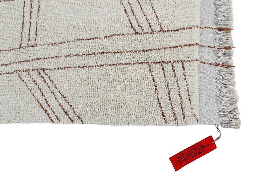 Shuka Seashell wełniany dywan z afrykańskiej kolekcji - podłogowe ozdoby