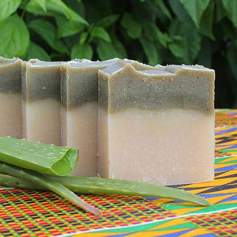 Naturalne i bezzapachowe mydło afrykańskie do delikatnej skóry