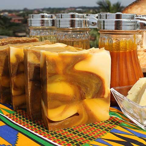 Orzeźwiające mydło palmowe z Ghany