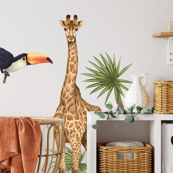 Naklejka na ścianę w dziecięcym pokoiku - zwierzątka afrykańskie
