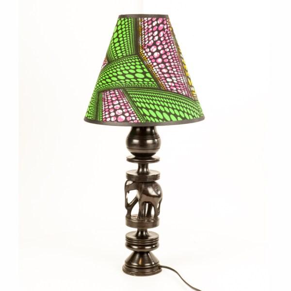 Duża stojąca afrykańska lampa