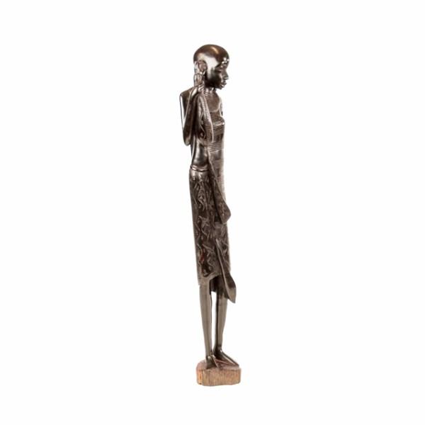 Drewniana rzeźba Masaja z Tanzanii