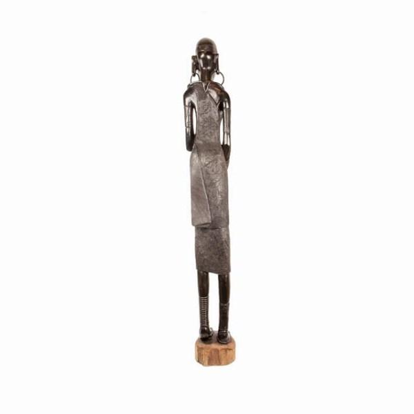 Wielka hebanowa rzeźba kobiety z Afryki duże dekoracje