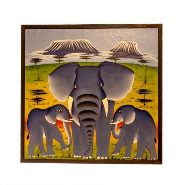 Obraz z Kilimandżaro i zwierzętami afrykańskimi