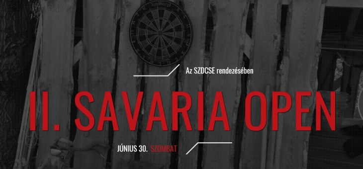 II. Savaria Steel Darts Open