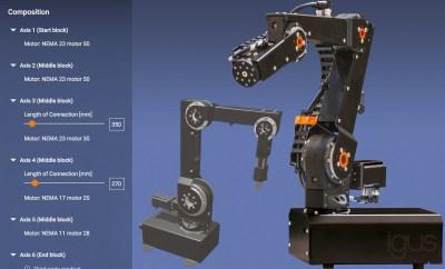 Zoptymalizowana konstrukcja zapewniająca jeszcze większą swobodę ruchu oraz stabilność – dowolnie konfigurowalne ramiona robotów robolink do indywidualnie projektowanej, niedrogiej automatyki. (Źródło: igus GmbH).
