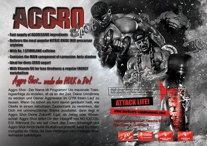 Aggro Shot katalóg oldal design