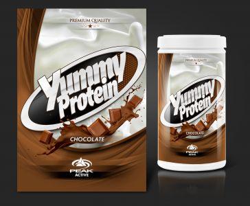 Peak Active Protein Chocolate csomagolás design