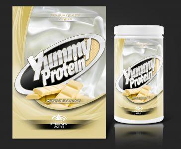Peak Active Protein White Chocolate csomagolás design