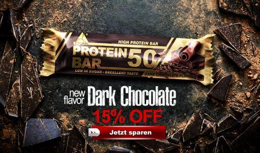 Protein Bar 50 Dark Chocolate Offer