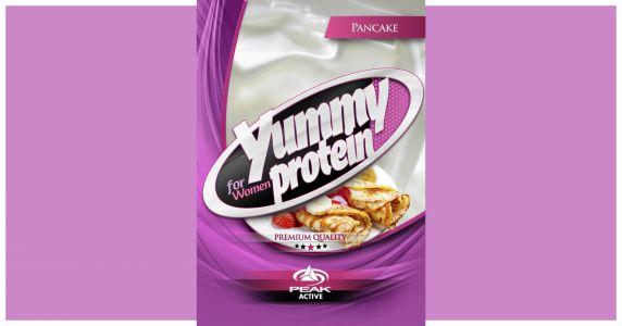 Yummy Protein palacsintás pink csomagolás címke