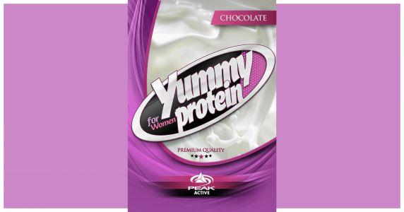 Yummy Protein pink csomagolás címke