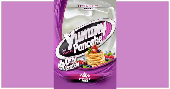 Yummy Protein pink palacsintás csomagolás címke