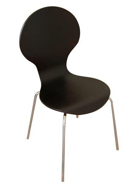 Shell (MF-3259) 4 db-os rakásolható lemezelt szék szett wenge