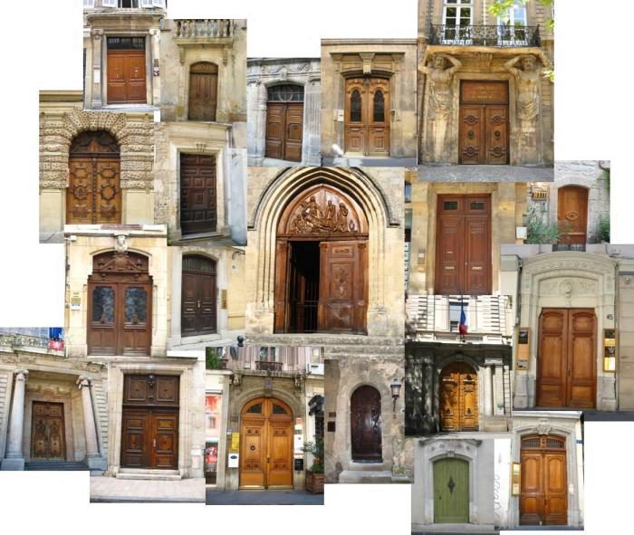 Our collage of doors in Provence