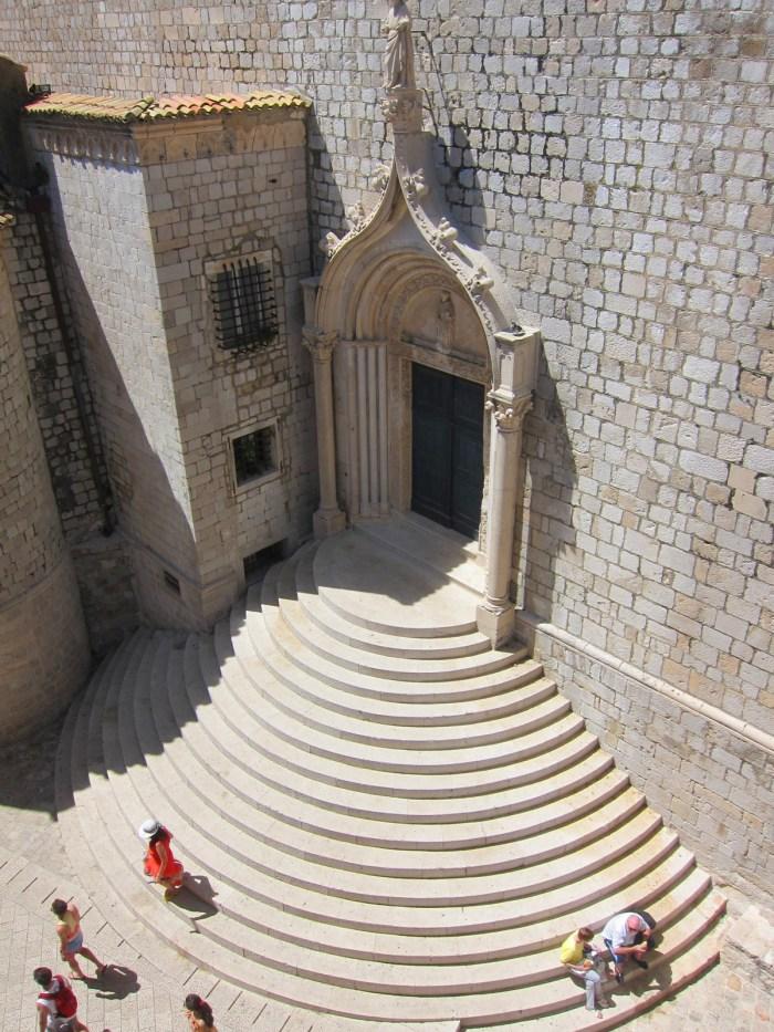 church steps of st sebastian