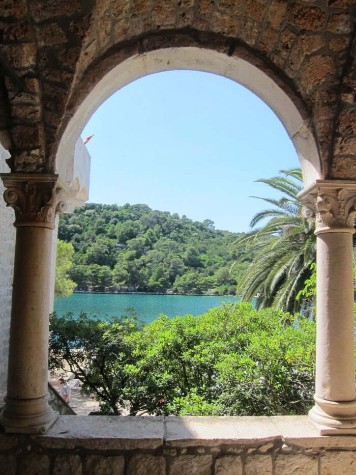 monastery window in mljet