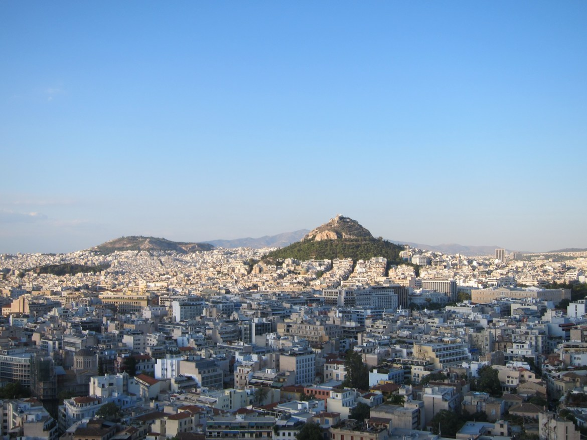 Last climb of the trip – Lycabettus Hill
