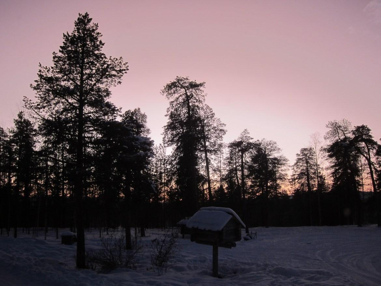Snowmobiling on Lake Inari