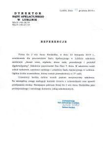 Referencje Sąd Apelacyjny w Lublinie
