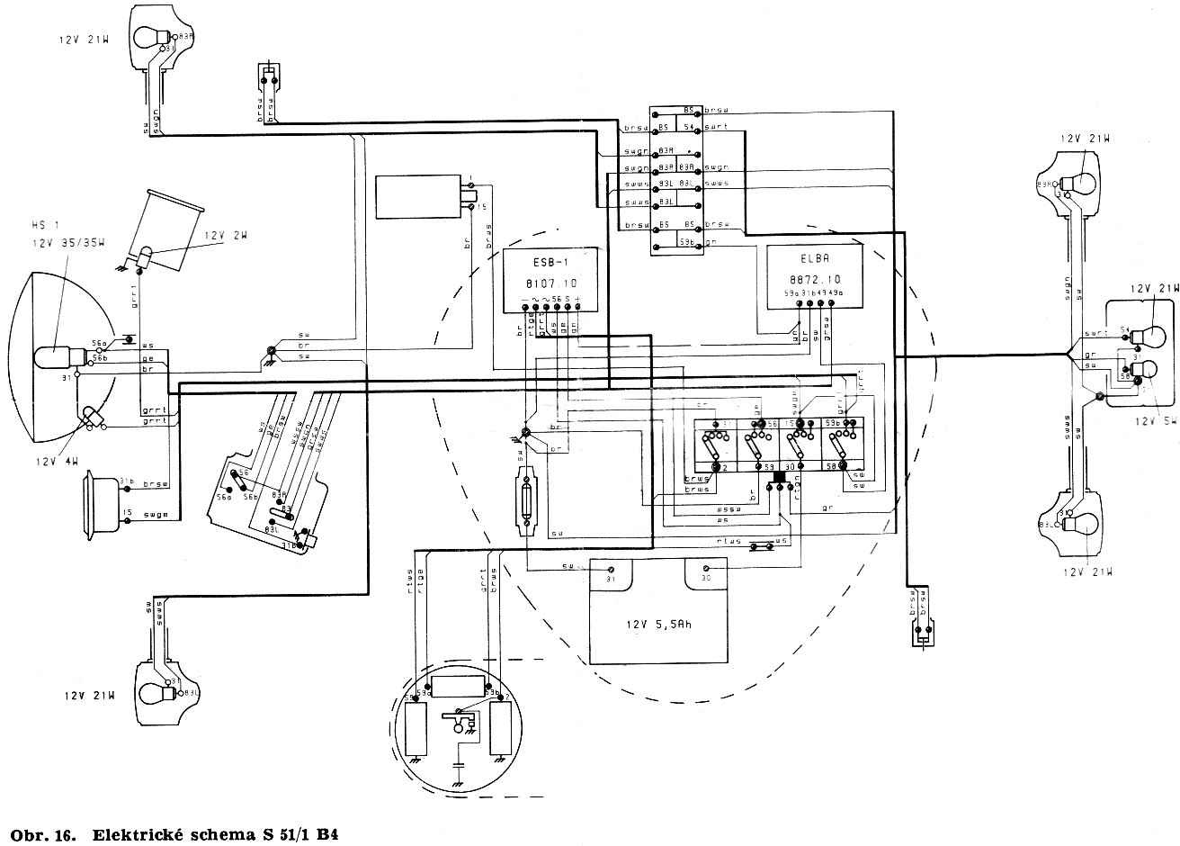 Simson S51 Elektronik Schaltplan 12v