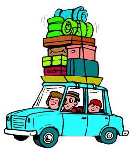 loaded car