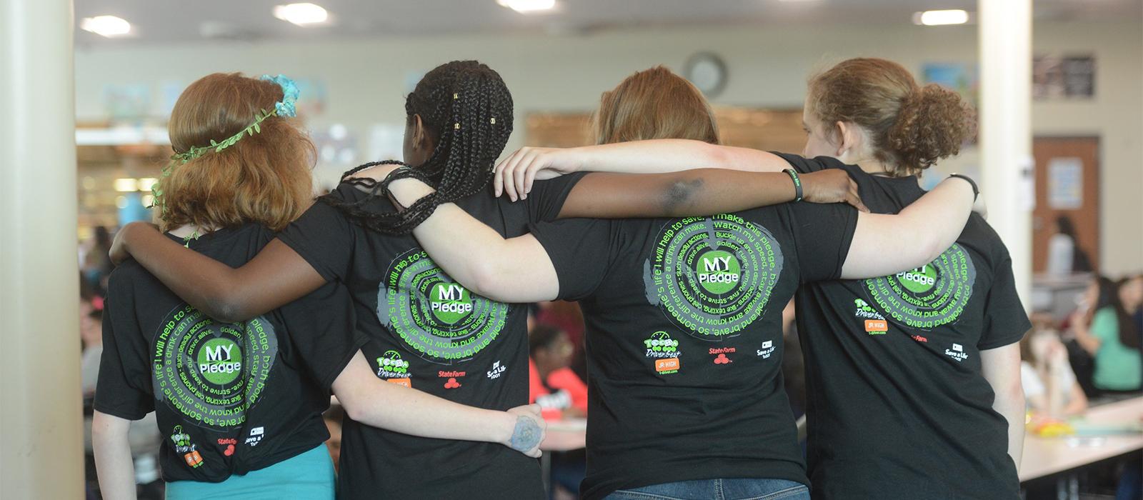 TDS friends pledge shirts