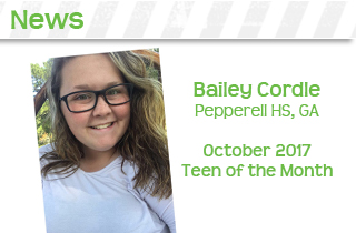 baily codle october teen of the month
