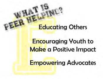 what is peer helping