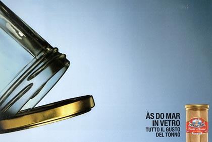 poster asdomar tonno in vetro copy diego fontana copywriter nomination adci