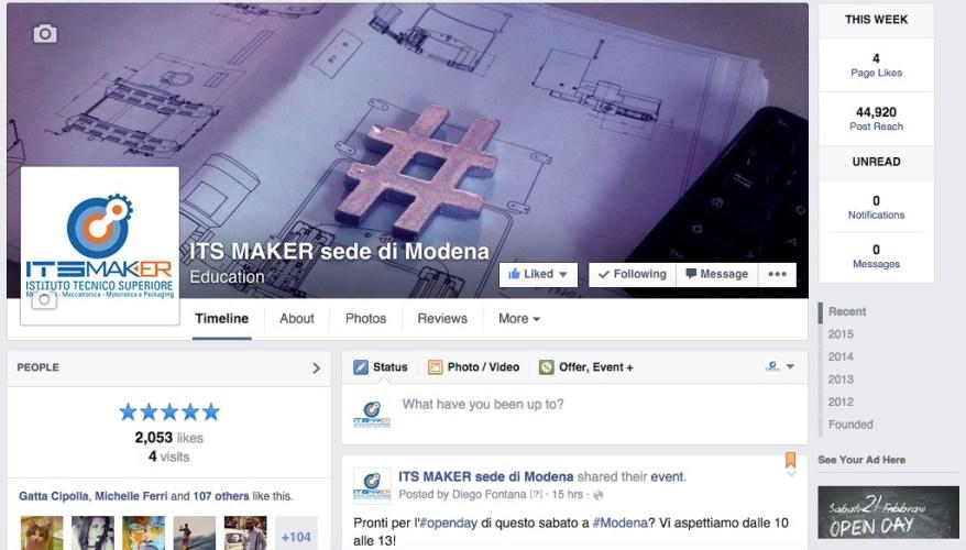 Its maker gestione pagina facebook a cura di TERRA