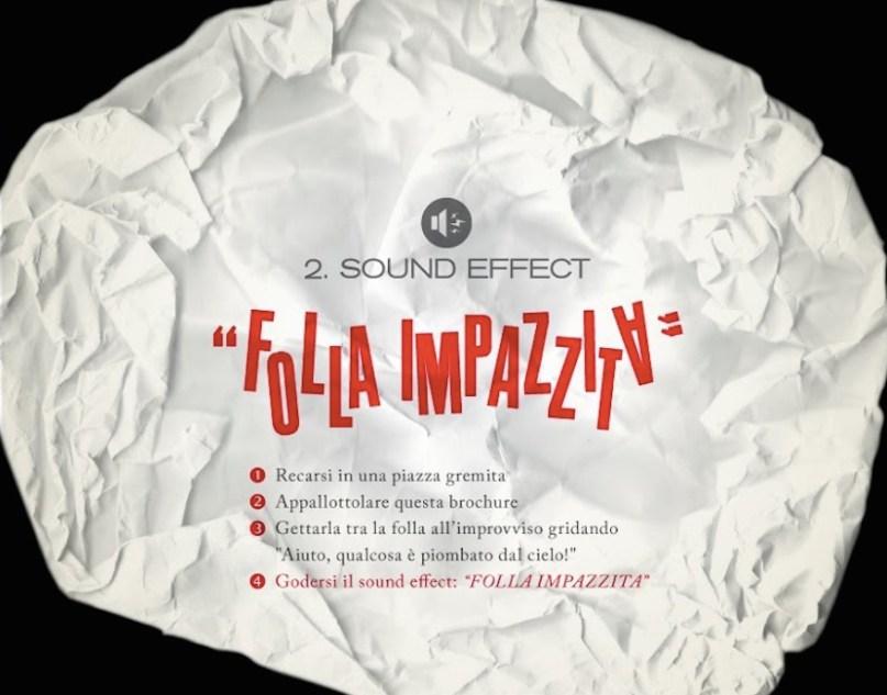 la brochure in grado di emettere effetto sonori top digital creatività a cura di Diego Fontana copywriter