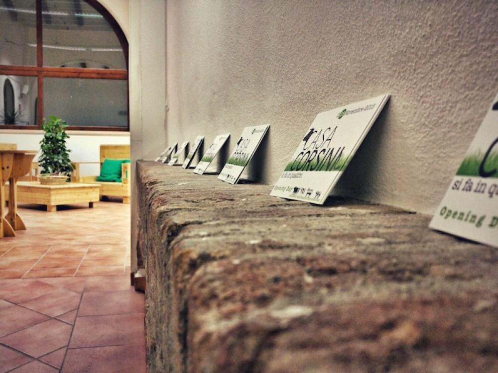 Sito e identità visiva Casa Corsini - Inviti
