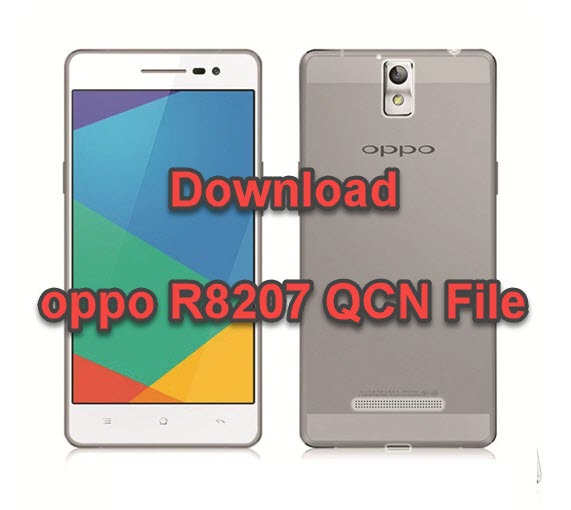 oppo R8207 QCN File