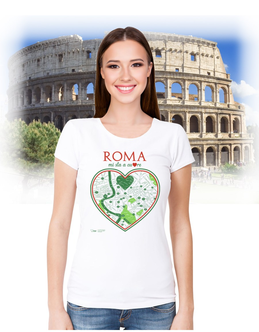 T-shirt roma cuore