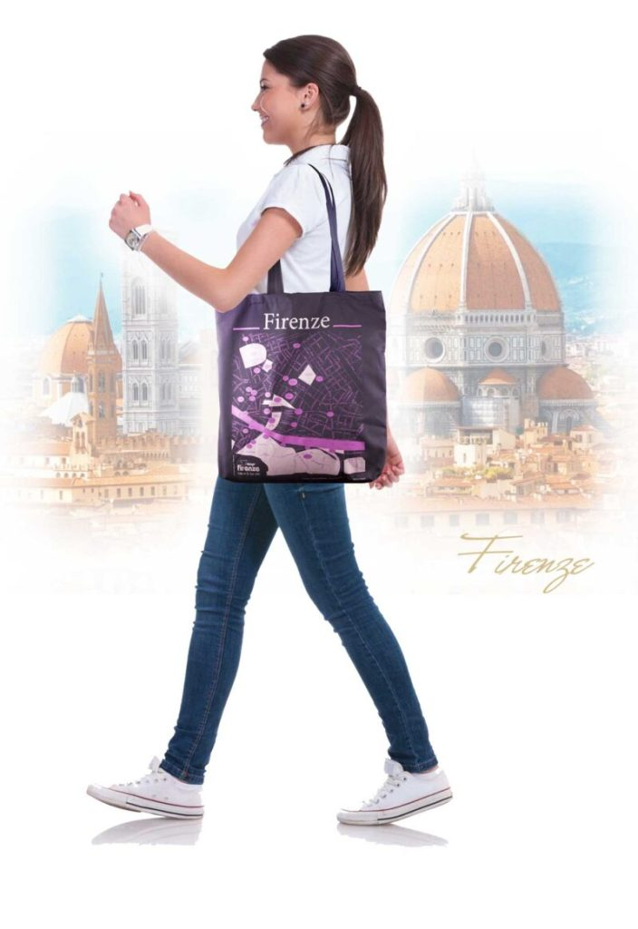 Shopper bag T-map firenze