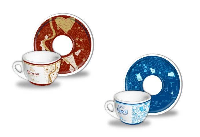 Tazze caffè T-map design