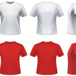 Vector realistic T-shirt Template