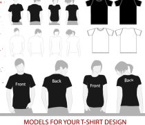 Vector tshirt model template