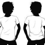 T-shirt template girl model