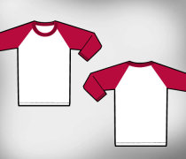 Raglan t-shirt template vector