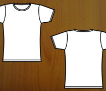 Girl's t-shirt template