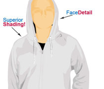 Hoodie t-shirt template illustrator