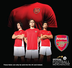 Official Arsenal t-shirt