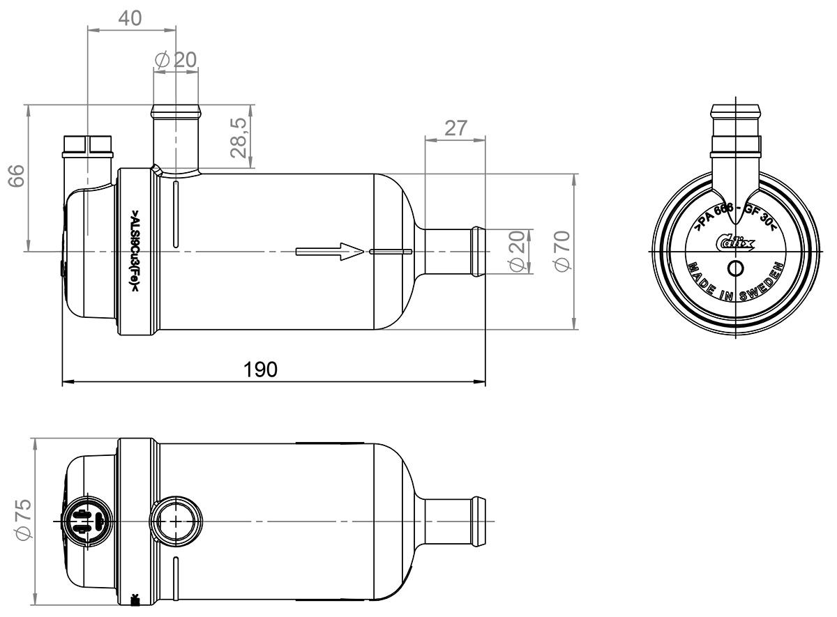 Engine Heater Ph H W 230v 60 80c