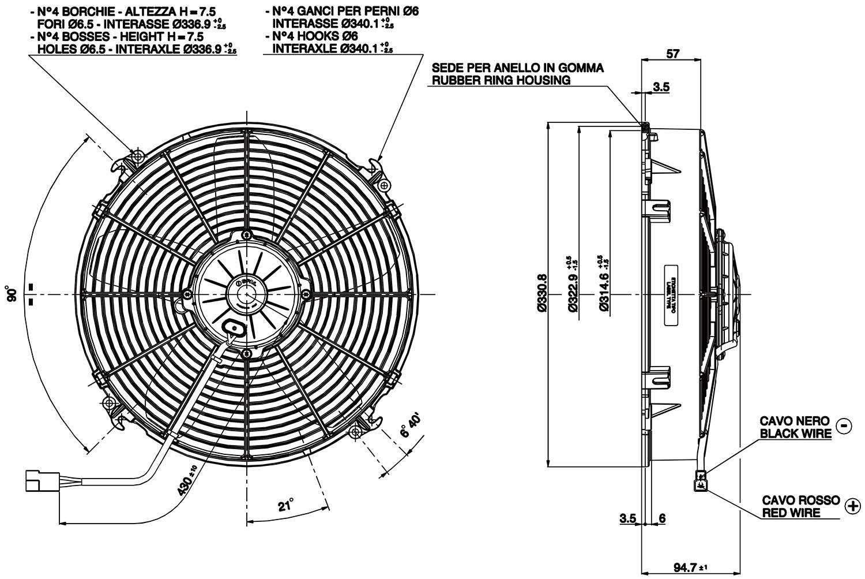 Vehicle Radiator Fan 12 Va34 Ap70 Ll 36a