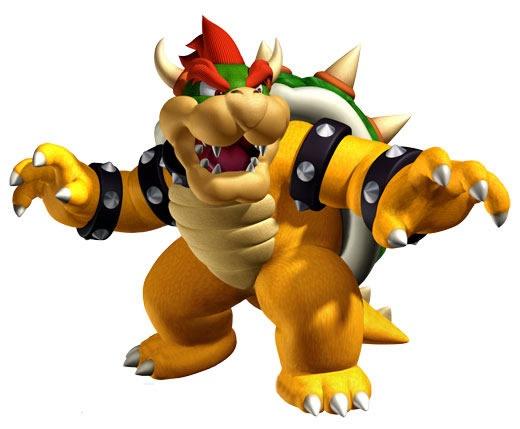 Bowser, een eindbaas uit de Mario-spellen