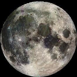 De maan, zoals gezien vanaf het noordelijk halfrond