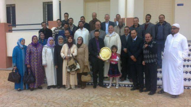 فرع تاونات لجمعية اساتذة التربية الاسلامية تكرم مفتش المادة الاستاذ محمد بنشنوف